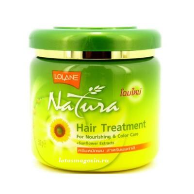 Маска Lolane Natura  для окрашеных волос с  экстрактом подсолнечника  250мл